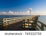 evening on the pier in binz ... | Shutterstock . vector #765222733
