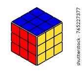 rubik's cube vector | Shutterstock .eps vector #765227377