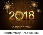 illustration of happy new year... | Shutterstock . vector #765231883