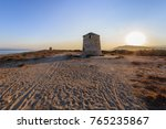 old windmill in gyra beach ... | Shutterstock . vector #765235867