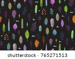 colorful leaves nature seamlees ... | Shutterstock .eps vector #765271513
