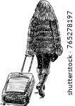 a young woman goes to a travel | Shutterstock .eps vector #765278197