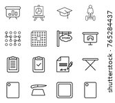 thin line icon set  ...   Shutterstock .eps vector #765284437