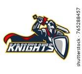 knights   knight swings a sword | Shutterstock .eps vector #765288457