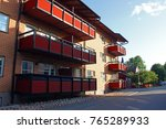 modern apartment building in... | Shutterstock . vector #765289933