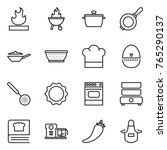 thin line icon set   flammable  ... | Shutterstock .eps vector #765290137