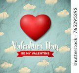 valentines day greeting card... | Shutterstock .eps vector #765295393