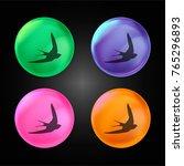 swift bird shape crystal ball... | Shutterstock .eps vector #765296893