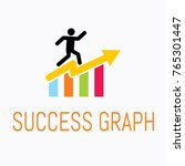 logo of success graph. | Shutterstock .eps vector #765301447