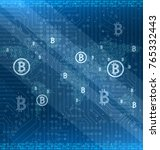 mining bitcoin cryptocurrency... | Shutterstock . vector #765332443