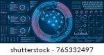 abstract hud ui interface ...   Shutterstock . vector #765332497