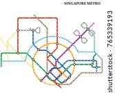 map of singapore metro  subway  ... | Shutterstock .eps vector #765339193
