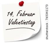 reminder february 14 valentine... | Shutterstock .eps vector #765341173