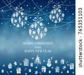 new year and merry christmas... | Shutterstock .eps vector #765351103