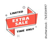 sale banner design template.... | Shutterstock .eps vector #765354997