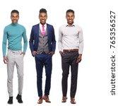 full body afro man | Shutterstock . vector #765356527