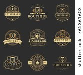 luxury monograms logos... | Shutterstock .eps vector #765361603