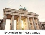 brandenburger tor  in berlin ... | Shutterstock . vector #765368827
