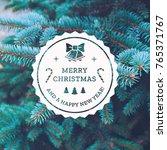 blue spruce christmas tree... | Shutterstock . vector #765371767