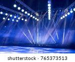light from the scene  a rock... | Shutterstock . vector #765373513