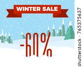 winter sale numbers on the... | Shutterstock .eps vector #765375637