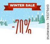 winter sale numbers on the... | Shutterstock .eps vector #765375643