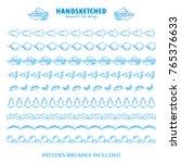 blue frozen set of vector... | Shutterstock .eps vector #765376633