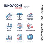 medicine   line design icons set | Shutterstock .eps vector #765378037