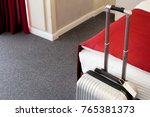 suitcase or luggage bag in a... | Shutterstock . vector #765381373