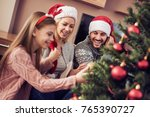 merry christmas and happy... | Shutterstock . vector #765390727