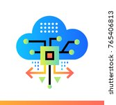 flat icon cloud based... | Shutterstock . vector #765406813