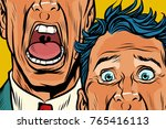 close up of eyes and mouth men... | Shutterstock .eps vector #765416113