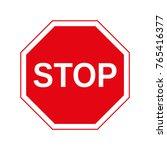 illustration traffic stop sign... | Shutterstock .eps vector #765416377