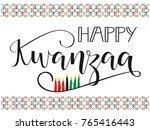 happy kwanzaa decorative...   Shutterstock .eps vector #765416443