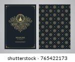 christmas greeting card design. ... | Shutterstock .eps vector #765422173