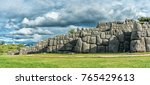 panoramic view of sacsayhuaman  ... | Shutterstock . vector #765429613