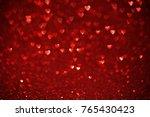 beautiful red hearts bokeh...   Shutterstock . vector #765430423