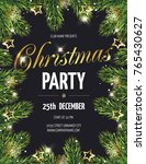 hristmas party poster with fir ... | Shutterstock .eps vector #765430627