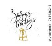 seasons greetings card....   Shutterstock .eps vector #765436243