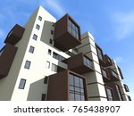 architecture  building  3d... | Shutterstock . vector #765438907