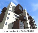 architecture  building  3d... | Shutterstock . vector #765438907