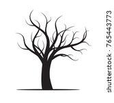black winter naked tree. vector ... | Shutterstock .eps vector #765443773