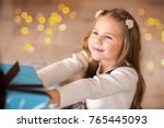 girl  daughter  smiling  glad... | Shutterstock . vector #765445093