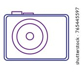 photographic camera isolated... | Shutterstock .eps vector #765445597