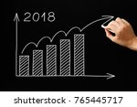 hand drawing growth graph for... | Shutterstock . vector #765445717