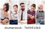 set of diverse people of... | Shutterstock . vector #765451363