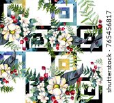 bouquet flower pattern in a... | Shutterstock . vector #765456817