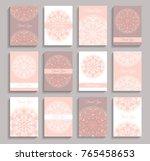 vector invitations set. thank... | Shutterstock .eps vector #765458653