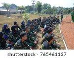 "Small photo of ""bela negara"" at batalyon 15 arhanudse Semarang. Anti air unit. over 100 college student were participate. october 2014."