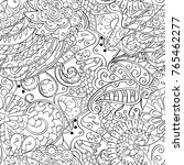 tracery seamless pattern.... | Shutterstock .eps vector #765462277